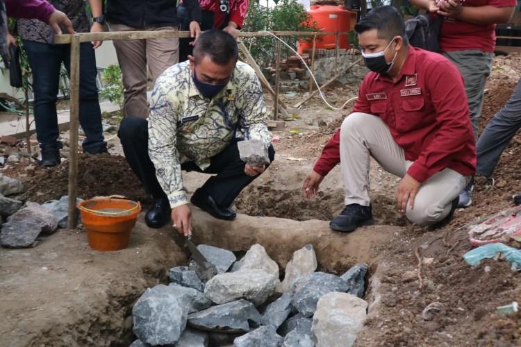 Walikota Lakukan Peletakan Batu Pertama Shelter PMKS, Komitmen untuk Penanganan Permasalahan Sosial