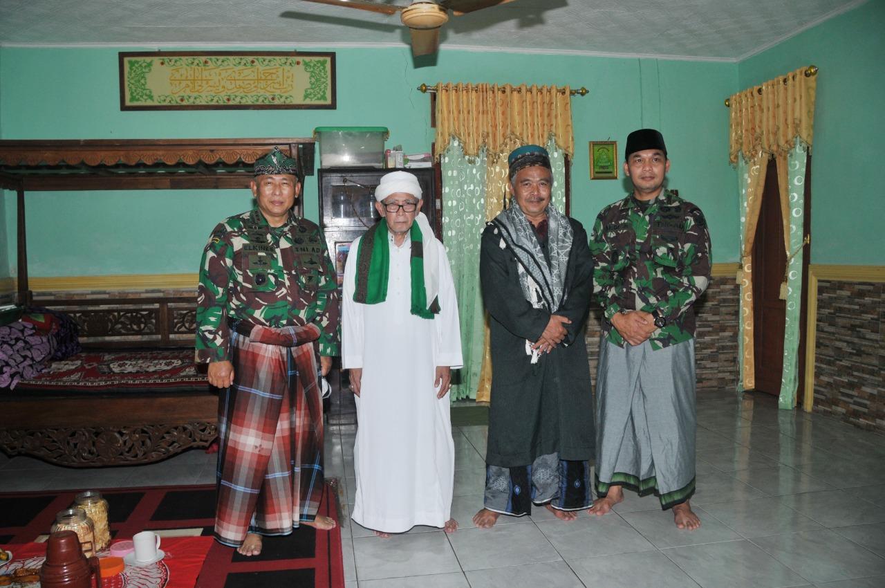 Danrem 063/SGJ Silaturahmi ke Kiyai Sepuh Ponpes Benda Kerep